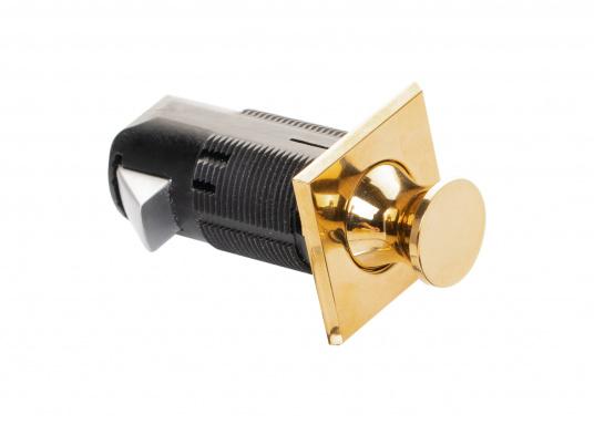 Druckschnapper aus Messing gefertigt. In eckiger Form. Bündiges Design. (Bild 6 von 7)
