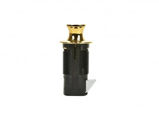 Druckschnapper aus Messing gefertigt. In runder Form. Bündiges Design. (Bild 2 von 5)