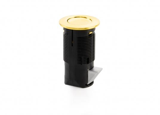 Druckschnapper aus Messing gefertigt. In runder Form. Bündiges Design. (Bild 3 von 5)