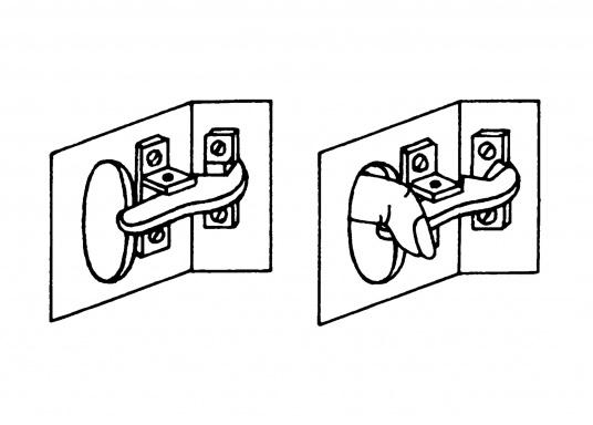 Auch bei stärkstem Seegang wasserdicht! Verchromter Fingerschnapper mit Schließblech.  (Bild 4 von 4)