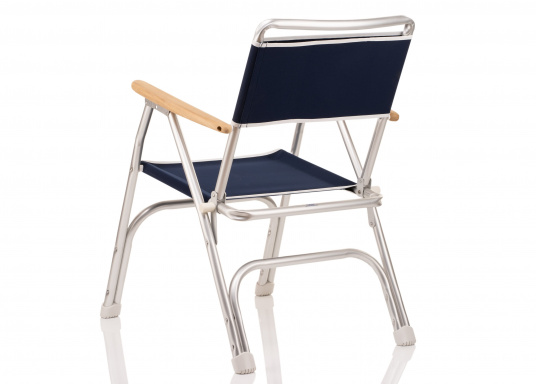 Very comfortable foldable chair / resistant to corrosion. Sea-water resistant aluminium (ALMG 1.5 Mn) frame with 100% coton fabric and wooden armrests. (Imagen 4 de 6)