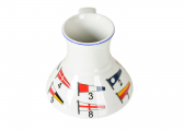 Porcelain Cup with Flags
