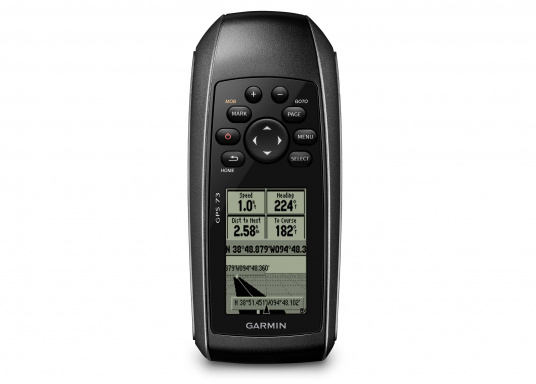 The GPS 73 is an easy-to-use handheld device, which is the perfect navigational solution for boats, sailboats or small watercraft that do not have a chartplotter. (Imagen 2 of 9)