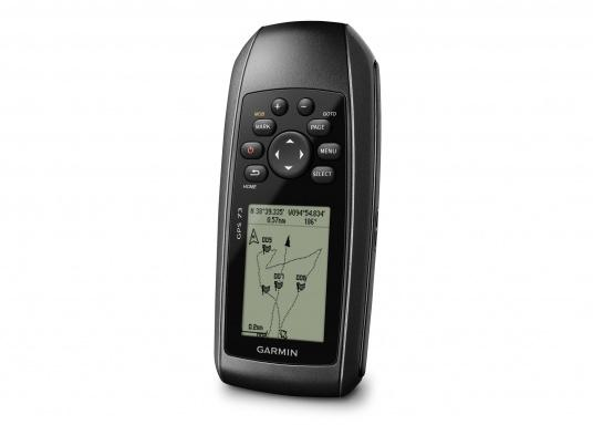 The GPS 73 is an easy-to-use handheld device, which is the perfect navigational solution for boats, sailboats or small watercraft that do not have a chartplotter. (Afbeelding 6 of 9)