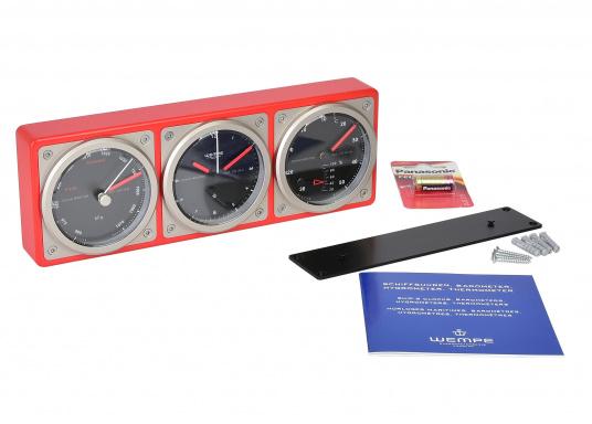 Das Kombiinstrument zeigt auf einen Blick die wichtigen seemännischen Grundwerte: Uhrzeit, Luftdruck, Temperatur sowie die Luftfeuchtigkeit an. (Bild 5 von 5)