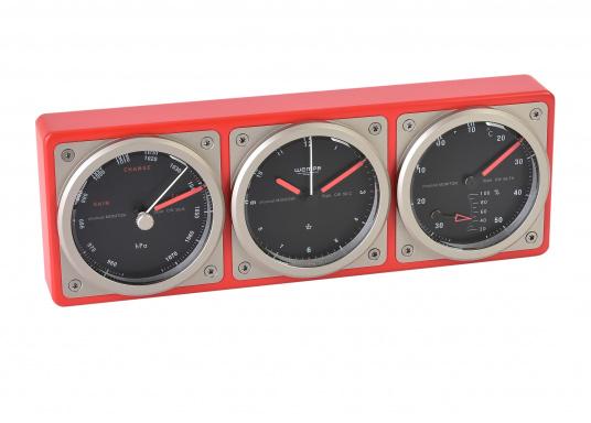 Das Kombiinstrument zeigt auf einen Blick die wichtigen seemännischen Grundwerte: Uhrzeit, Luftdruck, Temperatur sowie die Luftfeuchtigkeit an. (Bild 2 von 5)