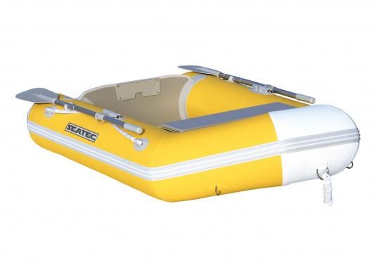 Das Set besteht aus dem SEATEC Schlauchboot NEMO 230 und dem Außenbordmotor Honda BF 2,3.  (Bild 5 von 17)