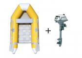 Bild von Schlauchboot-Set NEMO 230 + HONDA BF 2,3 / gelb