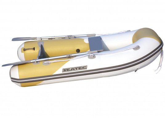 Das Set besteht aus dem SEATEC Schlauchboot AEROTEND 260 und dem Außenbordmotor Honda BF 2,3.  (Bild 2 von 9)