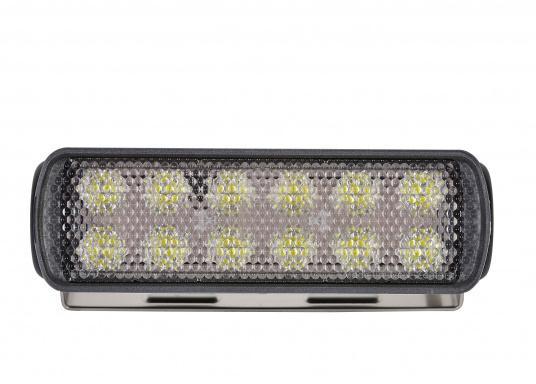Ottica di prcisione e ampio fascio luminoso. Questo proiettore a LED è ideale per le distanze ravvicinate come l'illuminazione di ponte e pozzetto. Emette una impressionante intensità luminosa a basso consumo energetico. (Immagine 2 di 5)