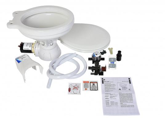 Ces WC marins QUIET FLUSH ont une chasse silencieuse, comme les toilettes domestiques. Un seul bouton pour deux niveaux de chasse (Image 3 de 4)