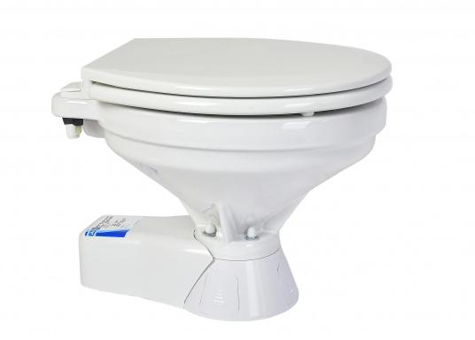 Ces WC marins QUIET FLUSH ont une chasse silencieuse, comme les toilettes domestiques. Un seul bouton pour deux niveaux de chasse