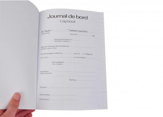 Das Plastimo Logbuch bietet ausreichend Platz für 51 Tage und umfasst insgesamt 104 Seiten. Zur Dokumentation von Informationen über Wetter, Motor und andere Notizen. Mit beschichtetem Cover. Abmessungen: 200 x 285 mm. (Bild 2 von 3)