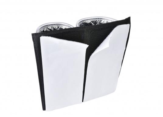 Praktische Windenkurbeltasche aus Acryl. Mit offenem Boden, damit sich kein Wasser in der Tasche sammelt. Für eine einfache Montage sorgt die Klettbandbefestigung auf der Rückseite. (Bild 4 von 4)