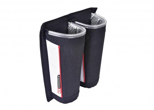 Praktische Windenkurbeltasche aus Acryl. Mit offenem Boden, damit sich kein Wasser in der Tasche sammelt. Für eine einfache Montage sorgt die Klettbandbefestigung auf der Rückseite. (Bild 2 von 4)