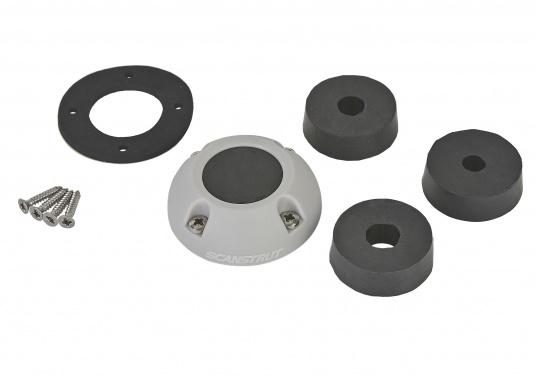 Kabeldurchführung aus Kunststoff. Für Stecker bis 30 mm und Kabel von 9 - 14 mm.  (Bild 2 von 7)