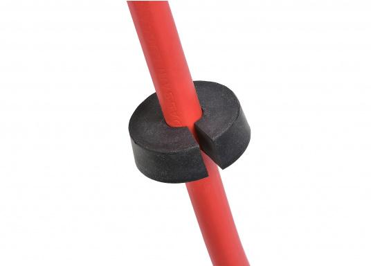 Kabeldurchführung aus Kunststoff. Für Stecker bis 30 mm und Kabel von 9 - 14 mm.  (Bild 3 von 7)