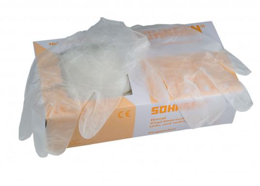 Besonders stabile und reißfeste Einweghandschuhe für saubere Arbeit mit Klebern, Farben und Lacken. Aus Vinyl.Größe: XL. Inhalt: 100 Stück.