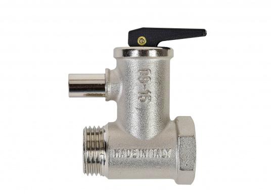 """SIGMAR - Sicherheitsventil für Boiler. 4 bar Auslösedruck, 1/2""""Anschluss, 10 mm Rohrstutzen.  (Bild 2 von 3)"""