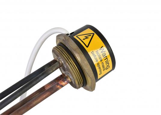 CLEGHORN - Heizpatrone 2000 W / 220 V. Diese Heizpatrone passt in die Warmwasser-Boiler aus unserem Sortiment. Sie ist speziell für den Einsatz in Druckwasser-Systemen vorgesehen.  (Bild 3 von 3)