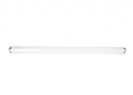 Leuchtstofflampe mit 40 Watt Leistung. Lichtfarbe: kaltweiß. Länge: 590 mm, inklusive Anschlüsse: 600 mm.