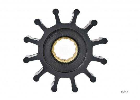 Wir bieten Ihnen hier ein umfangreiches Sortiment Ersatzimpeller für JOHNSON und JABSCO Impeller-Pumpen: Neopren-Impeller für Seewasserpumpen und Nitril-Impeller für Bilge- / Lenzpumpen, jeweils in verschiedenen Ausführungen. (Bild 5 von 18)