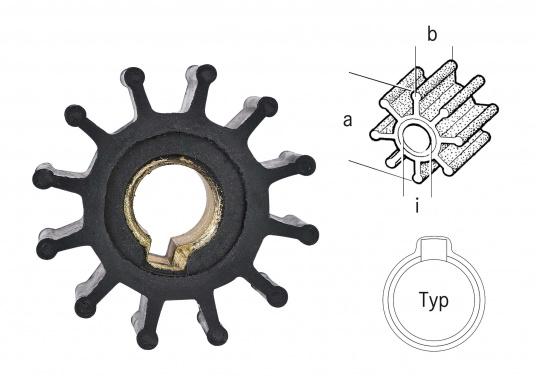 Impeller für verschiedene Motoren.ACHTUNG:Erstausrüster-Qualität.Es handelt sich NICHT um Original Ersatzteile der Motorenhersteller! (Bild 3 von 3)