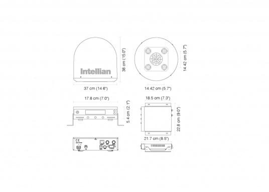 Intellian Technologies ist einer der weltweit führenden Hersteller von Satellitenkommunikations-Systemen. Dementsprechend hochwertig in Qualität und Ausstattung sind auch die i-Serie Antennen, passend konzeptioniert für alle Boots- und Yacht-Typen und -Größen. Diese Antennen überzeugen durch hervorragende Empfangseigenschaften. Exklusive und patentierte Technologien machen das Fernsehen an Bord einfacher und angenehmer, als man es sich vorstellen kann! (Bild 9 von 13)