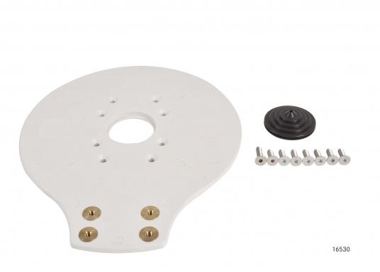 Idéal pour le montage d'une antenne de réception satellite. Matériau : aluminium peint en blanc. Livré avec la plaque de montage.Hauteur : 250 mm (Image 4 de 6)