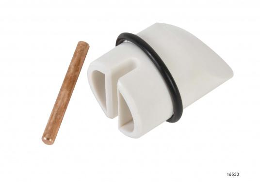 Idéal pour le montage d'une antenne de réception satellite. Matériau : aluminium peint en blanc. Livré avec la plaque de montage.Hauteur : 250 mm (Image 6 de 6)