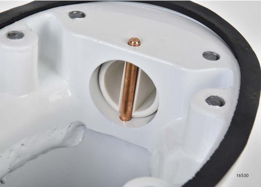 Idéal pour le montage d'une antenne de réception satellite. Matériau : aluminium peint en blanc. Livré avec la plaque de montage.Hauteur : 250 mm (Image 5 de 6)