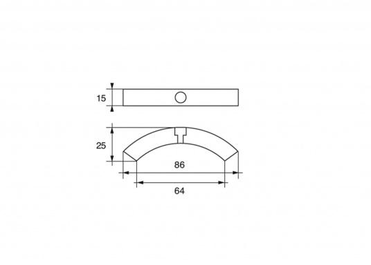 Anode d'hélice pour hélices repliables 2 et 3 pales Volvo Penta. Disponible en zinc, aluminium ou magnésium.Référence de pièce Volvo Penta : 3858399. (Image 3 de 3)