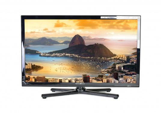 Kompakter, eleganter 12V Fernseher, der Ihnen den vollen Fernsehspaß in HD-Qualität an Bord, im Auto oder im Wohnwagen bietet. (Bild 2 von 3)