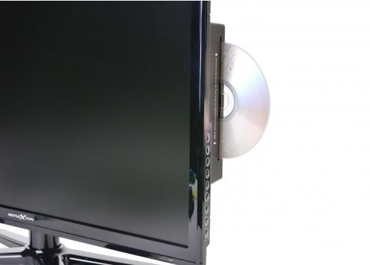 Kompakter, eleganter 12V Fernseher, der Ihnen den vollen Fernsehspaß in HD-Qualität an Bord, im Auto oder im Wohnwagen bietet. (Bild 3 von 3)