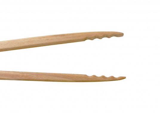 Vincitricidel premio Reddot Design,queste piccole pinze di legno di faggio realizzatea mano sono l'ideale per una grigliata o un piccolo barbecue.La loro forma ergonomica le rende molto semplici da maneggiare. Lunghezza: 46 cm.  (Immagine 7 di 7)