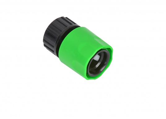 """Adapter für Gardena System mit 3/4"""" Innengewinde. Passend unter anderem für den flexiblen Wasserschlauch."""