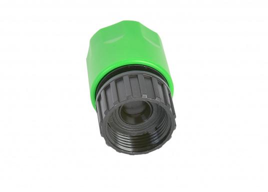 """Adapter für Gardena System mit 3/4"""" Innengewinde. Passend unter anderem für den flexiblen Wasserschlauch. (Bild 2 von 2)"""
