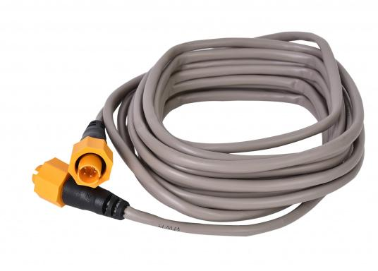 Ethernetkabel mit gelbem 5-Pin-Stecker. Zur Verwendung in Netzwerken bestehend aus Geräten der Navico-Marken Lowrance, Simrad und B&G. Länge: 4,5 m.
