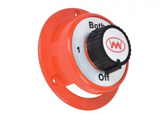 Einfacher Batterie-Umschalter für Bordnetze, die aus zwei Batterien versorgt werden. Für 12 V Bordnetze geeignet. (Bild 2 von 3)