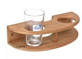 Teak Glass-Holder for 2 glasses