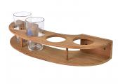 Teak Glass-Holder for 4 glasses