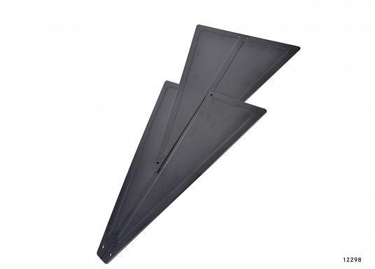 ZusammenfaltbarerSignalkegel, hergestellt aus schwarzem Kunststoff. Kann, da zusammengesteckt, flach und platzsparend verstaut werden.  (Bild 3 von 5)