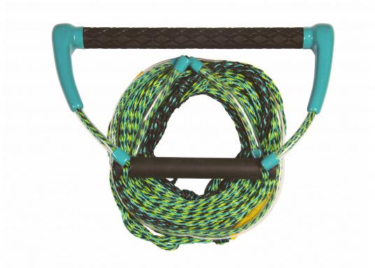 Dieses Kneeboard Seil ist mit einem ca. 38 cm breiten Profil-Handgriff ausgestattet.