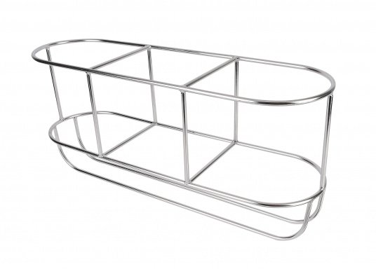 Stable stainless steel fender baskets. Fits up to three fenders. Available for various fender sizes. Straight shaped.