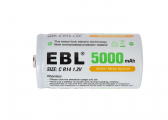 EBL Replacement Type C Battery / R14 / 5000 mAh