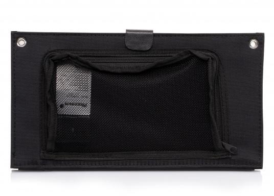 Das TREK KING Solarmodul Kit lässt sich dank der im Textilrahmen integrierten Ösen ganz leicht auf Booten, Rucksäcken und Taschen fixieren. Über den USB Ausgang können mobile Geräte wie Smartphones, (Bild 3 von 5)