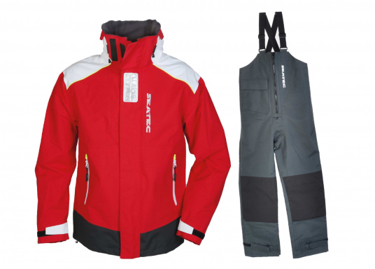 The new SEATEC COASTAL CS2 Set consisting of jacket and pants is ideally suited for motorboat drivers, beginners, charter crews and of course sailors. Breathable and with an additional DWR finish as well as fully taped seams, the set is completely waterproof. In a stylish unisex look with pleasantly soft 2-layer nylon material and MPU coating, the set is the perfect choice for any weather. NOTE! Please enter the desired clothing size in the comment field when ordering.