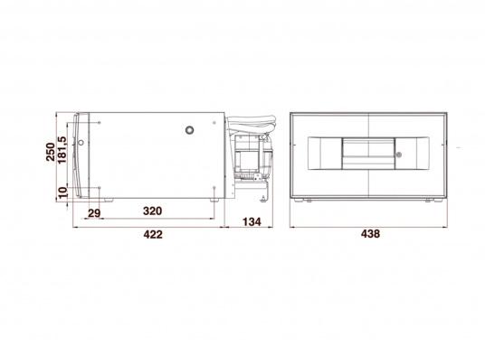 Das passt, wo sonst nichts passt! Das Einbau-Kühlschubfach CD 20bringt leistungsstarke Kompressorkühlung in beengte Raumverhältnisse, auch seitlicher Einbau möglich.  (Bild 3 von 3)