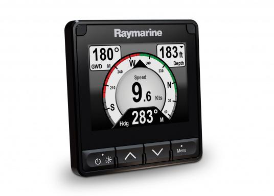 """The i70s multifunction display gives you the flexibility to display instrument and navigation data that is most important to you. Equipped with a bold and bright 4.1"""" display the i70s is easy-to-customize with digital, analog and graphical displays of depth, speed, wind and more. (Image 3 of 6)"""