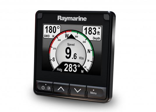"""The i70s multifunction display gives you the flexibility to display instrument and navigation data that is most important to you. Equipped with a bold and bright 4.1"""" display the i70s is easy-to-customize with digital, analog and graphical displays of depth, speed, wind and more. (Image 2 of 6)"""